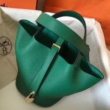 Hermes Vert Vertigo Picotin Lock MM 22cm Handmade Bags