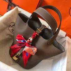 Hermes Taupe Picotin Lock MM 22cm Handmade Bags