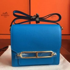 Hermes Mini Sac Roulis Bags In Blue Hydra Swift Leather