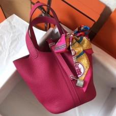 Hermes Peach Picotin Lock MM 22cm Handmade Bags