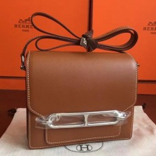 Hermes Mini Sac Roulis Bags In Caramel Swift Leather