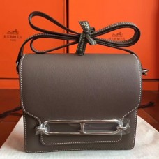Hermes Mini Sac Roulis Bags In Etoupe Swift Leather