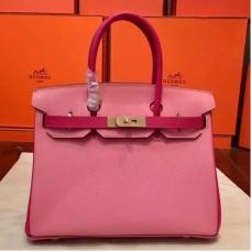 Hermes Pink Espom Horseshoe Brikin 30cm Handmade Bags