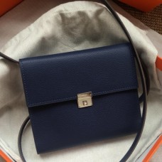 Hermes Sapphire Clic 16 Wallet With Strap