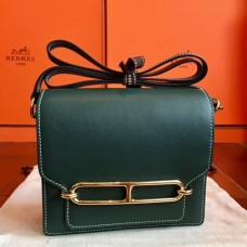 Hermes Mini Sac Roulis Bags In Green Swift Leather