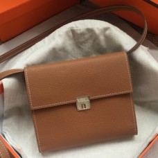 Hermes Brown Clic 16 Wallet With Strap