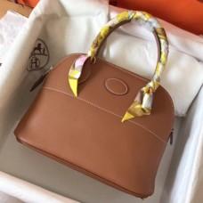 Hermes Gold Clemence Bolide 27cm Handmade Bags
