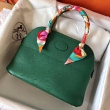 Hermes Vert Vertigo Clemence Bolide 27cm Handmade Bags