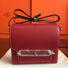 Hermes Mini Sac Roulis Bags In Red Swift Leather