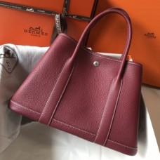 Hermes Ruby Clemence Garden Party 30cm Handmade Bags