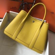 Hermes Soleil Clemence Garden Party 30cm Handmade Bags