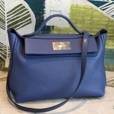 Hermes 24/24 29 Bags In Blue Clemence Calfskin