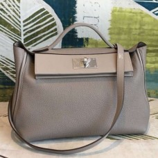 Hermes 24/24 29 Bags In Gris Asphalt Clemence Calfskin