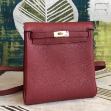 Hermes Bordeaux Clemence Kelly Ado PM Backpack