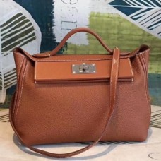 Hermes 24/24 29 Bags In Brown Clemence Calfskin