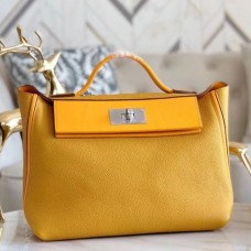 Hermes 24/24 29 Bags In Curry Clemence Calfskin