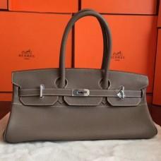 Hermes Grey JPG Shoulder Birkin 42cm Bags
