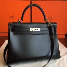 Hermes Black Box Kelly Retourne 32cm Handmade Bags