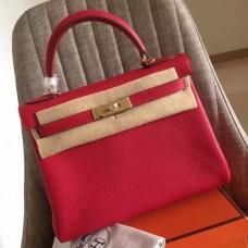 Hermes Red Clemence Kelly Retourne 32cm Handmade Bags