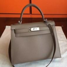 Hermes Etoupe Epsom Kelly 32cm Sellier Handmade Bags