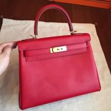 Hermes Red Epsom Kelly 32cm Sellier Handmade Bags