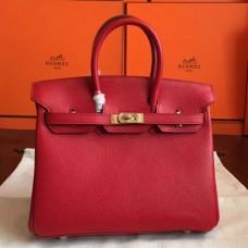 Hermes Red Epsom Birkin 25cm Handmade Bags