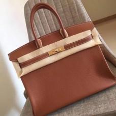 Hermes Gold Clemence Birkin 35cm Handmade Bags