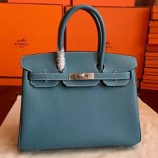 Hermes Blue Jean Epsom Birkin 35cm Handmade Bags