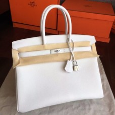 Hermes White Epsom Birkin 35cm Handmade Bags