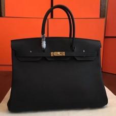 Hermes Black Clemence Birkin 40cm Handmade Bags
