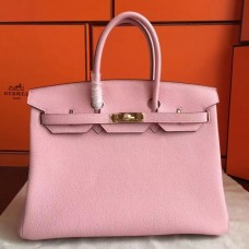 Hermes Pink Clemence Birkin 40cm Handmade Bags