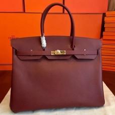 Hermes Bordeaux Epsom Birkin 40cm Handmade Bags