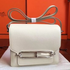 Hermes Mini Sac Roulis Bags In Ivory Swift Leather