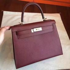 Hermes Bordeaux Epsom Kelly Sellier 28cm Handmade Bags