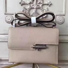 Hermes Grey Epsom Verrou Shoulder Handmade Bags