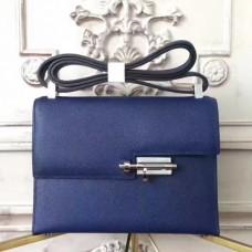 Hermes Sapphire Epsom Verrou Shoulder Handmade Bags
