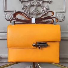 Hermes Yellow Goatskin Verrou Shoulder Handmade Bags