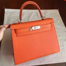 Hermes Orange Epsom Kelly Sellier 28cm Handmade Bags