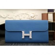 Hermes Constance Wallet In Jean Blue Epsom Leather