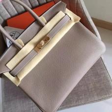 Hermes Grey Clemence Birkin 30cm Handmade Bags