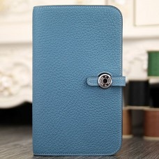 Hermes Dogon Combine Wallet In Jean Blue Leather