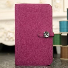 Hermes Dogon Combine Wallet In Purple Leather