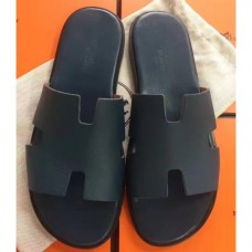 Hermes Navy Blue Epsom Izmir Sandals