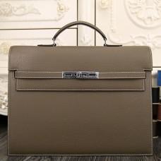 Hermes Grey Kelly Depeche 38cm Briefcase Bags