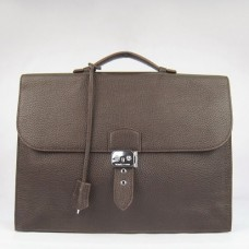 Hermes Chocolate Sac A Depeches 38cm Briefcase Bags