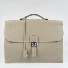 Hermes Grey Sac A Depeches 38cm Briefcase Bags
