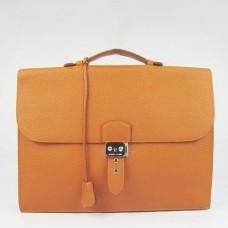 Hermes Orange Sac A Depeches 38cm Briefcase Bags