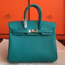 Hermes Blue Paon Epsom Birkin 25cm Handmade Bags
