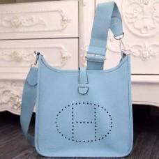 Hermes Light Blue Evelyne III PM Bags