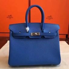 Hermes Blue Epsom Birkin 25cm Handmade Bags